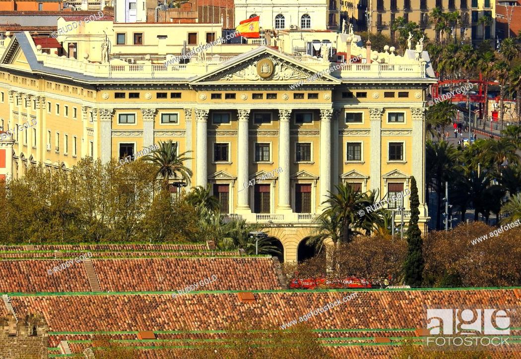 Stock Photo: Military Government building, 1925, architect: Adolf Florensa i Ferrer, Port Vell, Barcelona, Catalonia, Spain.