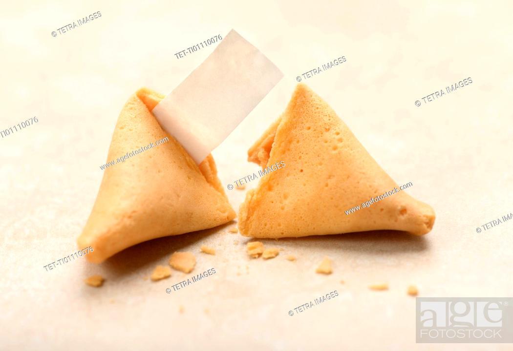 Photo de stock: Two fortune cookies.