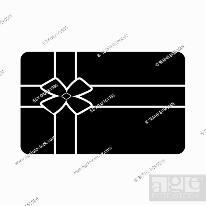 Vector: Gift card it is black icon . Flat style.