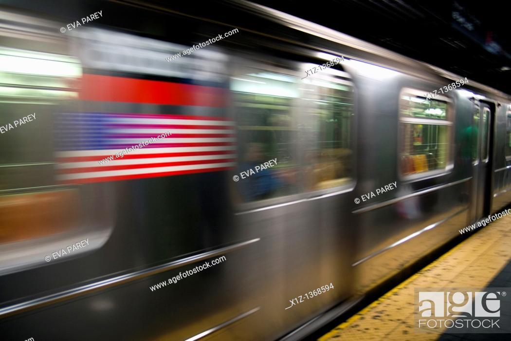 Stock Photo: New York Subway.