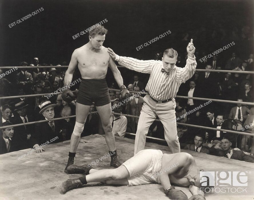 Imagen: Referee counting down knockout.