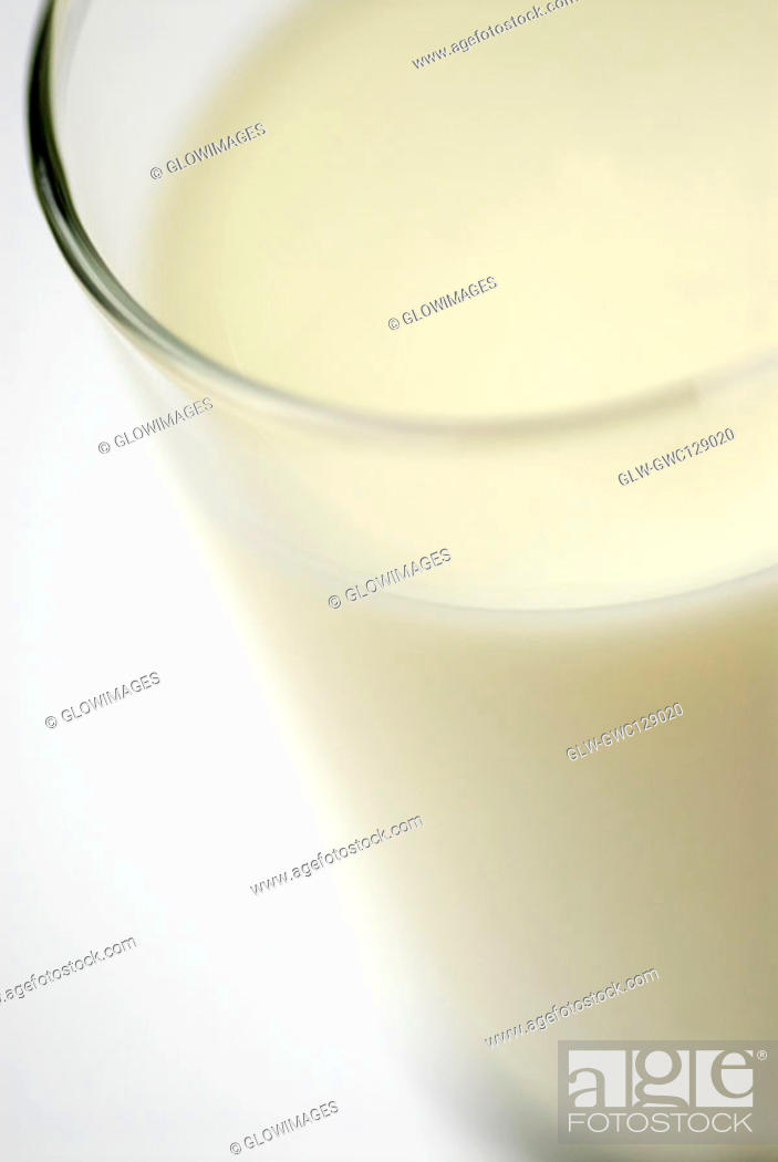 Stock Photo: Close-up of a glass of milk.