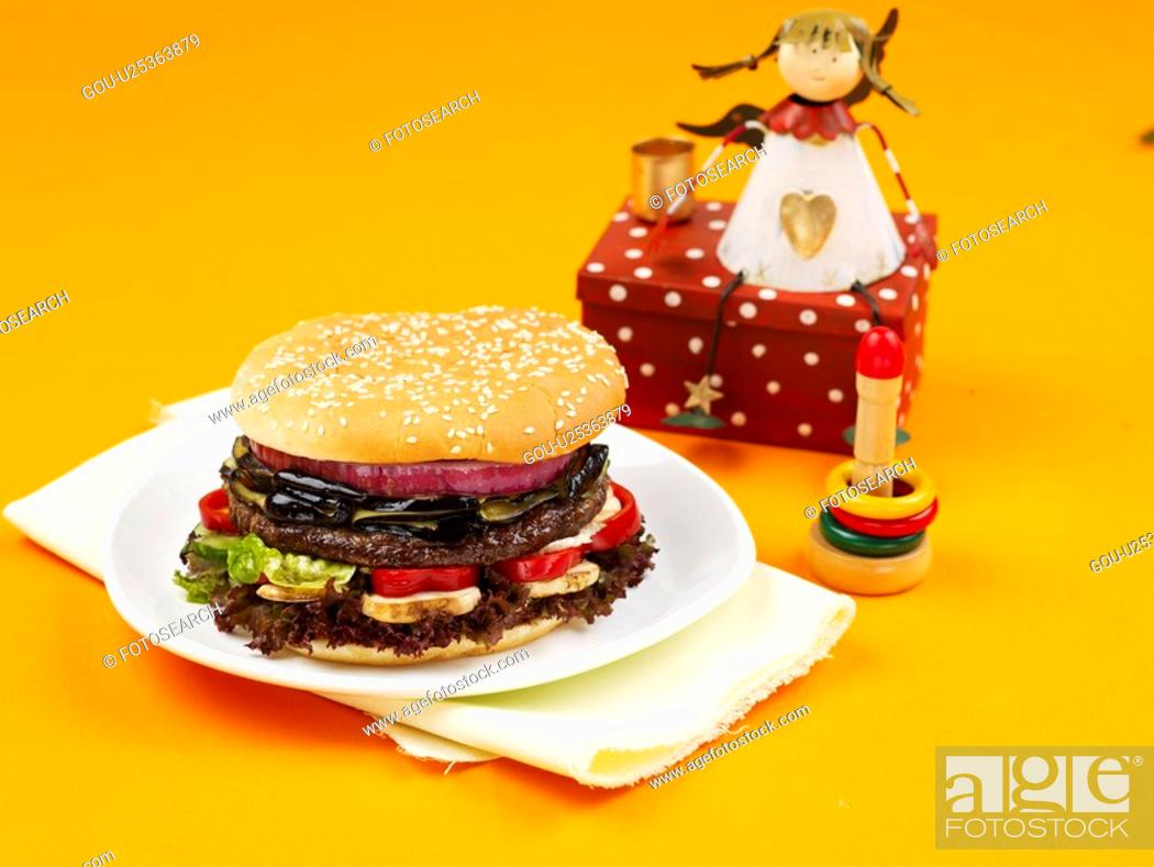 Stock Photo: angel toy, plate, decoration, food styling, toy, dish.