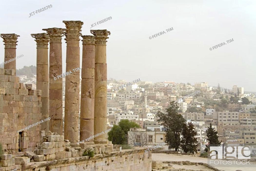 Stock Photo: Jordan, Jerash, Artemis Temple.