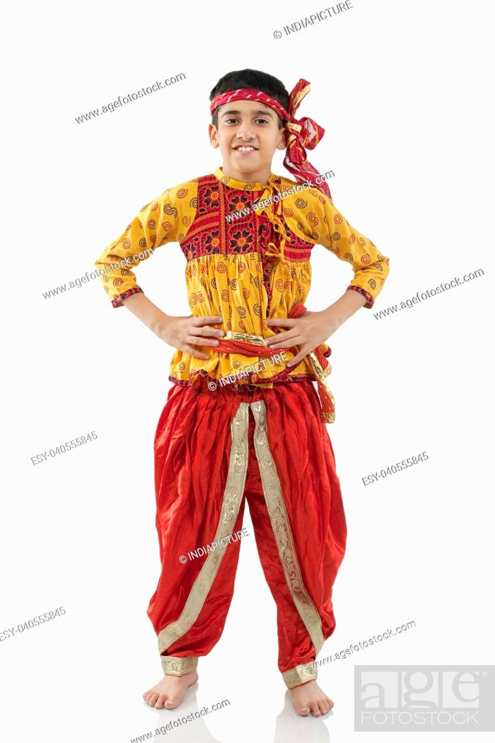 7ffacae48 Gujarati boy wearing Kedia, Stock Photo, Picture And Low Budget ...