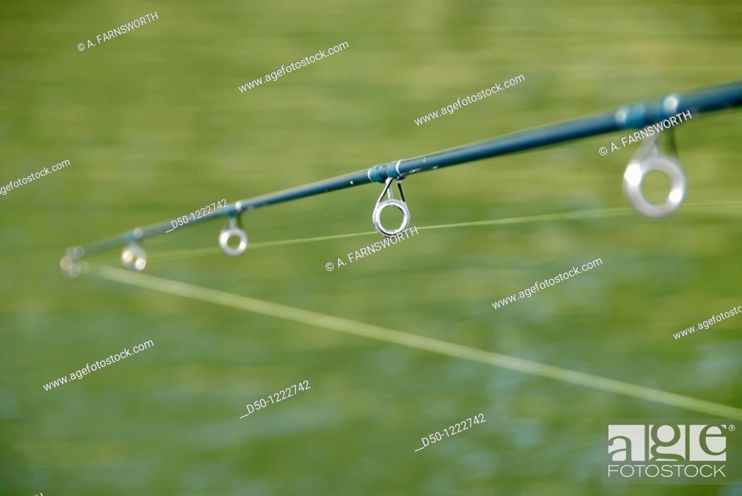 Stock Photo: Fishing pole.