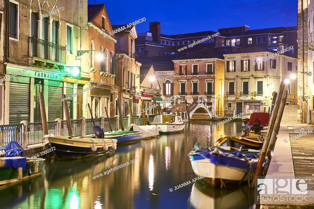 Stock Photo: Fondamenta dei Tolentini, Venice, 30100 Venezia VE, Beneto, Italy.