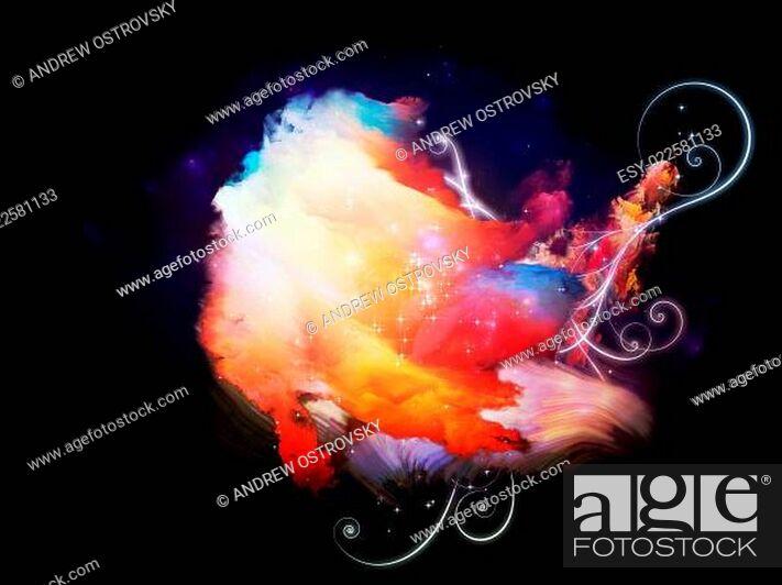 Photo de stock: Cool Design Nebulae.
