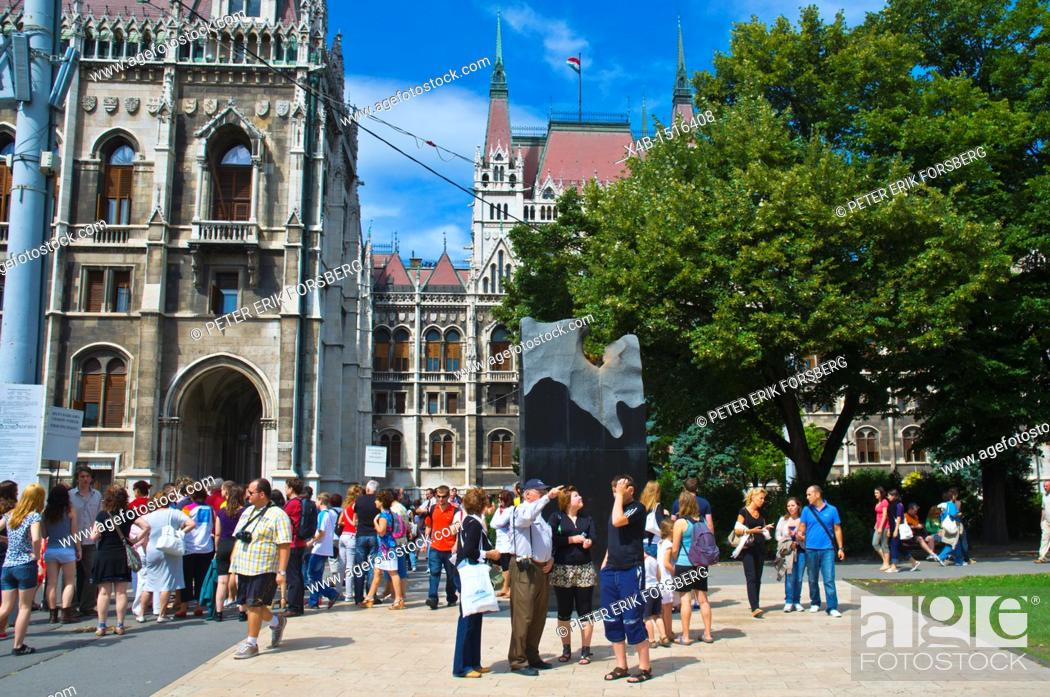 Stock Photo: Orszaghaz the Hungarian Parliament Building central Budapest Hungary Europe.