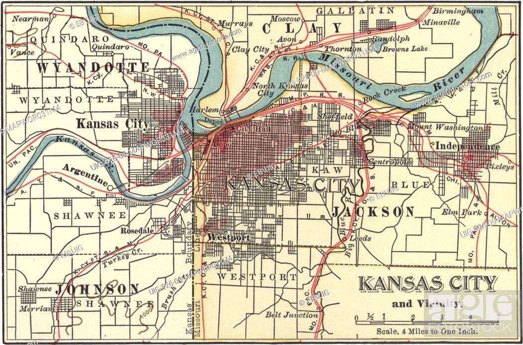 Alton Kansas Map.Map Of Kansas City Kansas Circa 1900 From The 10th Edition Of