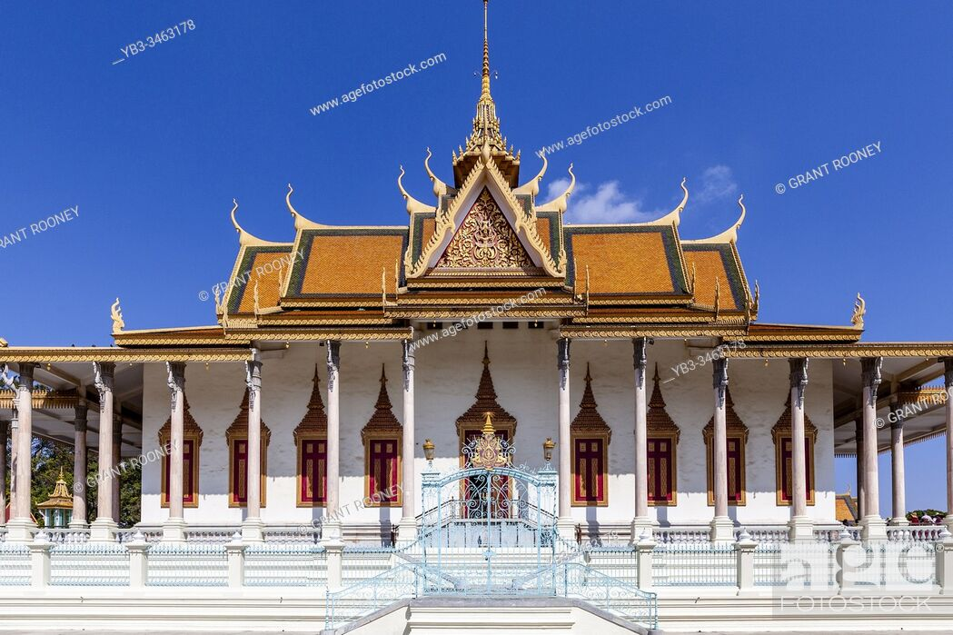 Stock Photo: The Silver Pagoda At The Royal Palace, Phnom Penh, Cambodia.