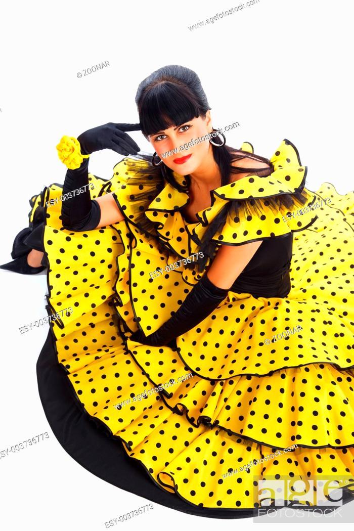 Stock Photo: Flamenco dancer.