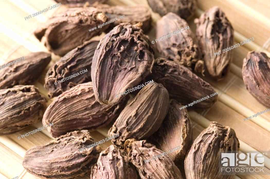 Stock Photo: Close-up of Black Cardamoms.