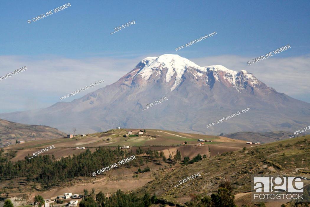 Stock Photo: View of Chimborazo Volcano, Ecuador.
