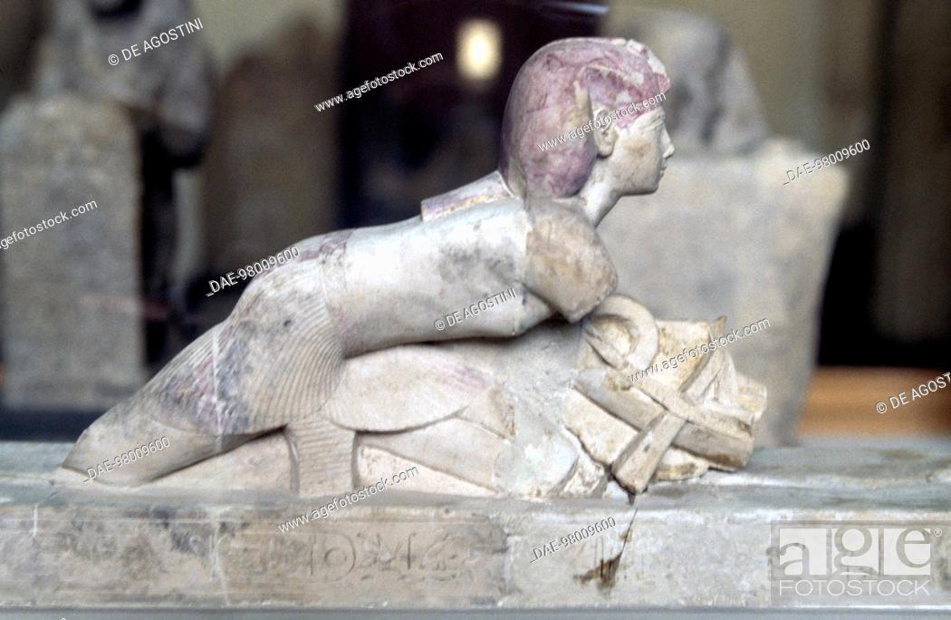 Stock Photo: Statue of Pharaoh Osorkon II. Egyptian civilisation, Third Intermediate Period, Dynasty XXII.  Cairo, Egyptian Museum.