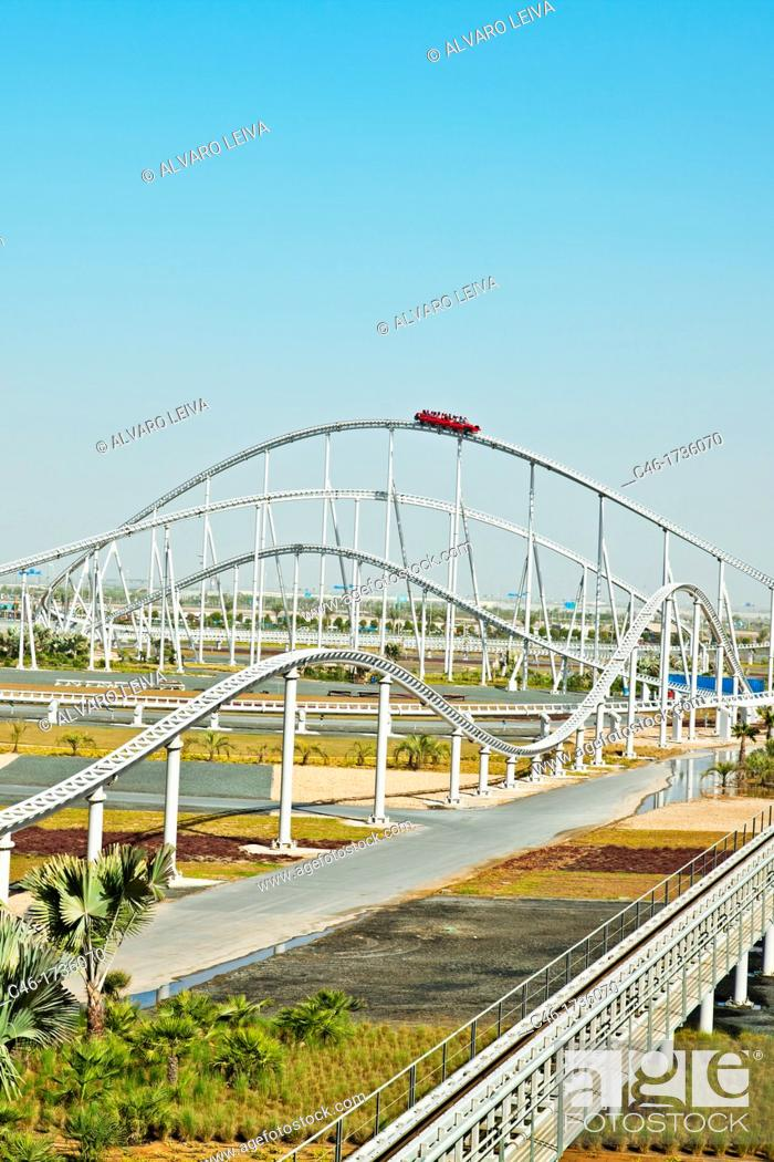 Visitors Riding World S Fastest Roller Coaster Formula Rossa At Ferrari World Abu Dhabi Stock Photo Picture And Rights Managed Image Pic C46 1736070 Agefotostock
