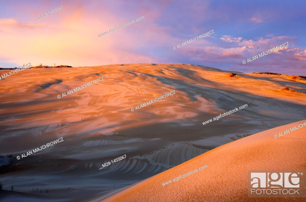 Stock Photo: Sunset on Oregon Dunes National Recreation Area.
