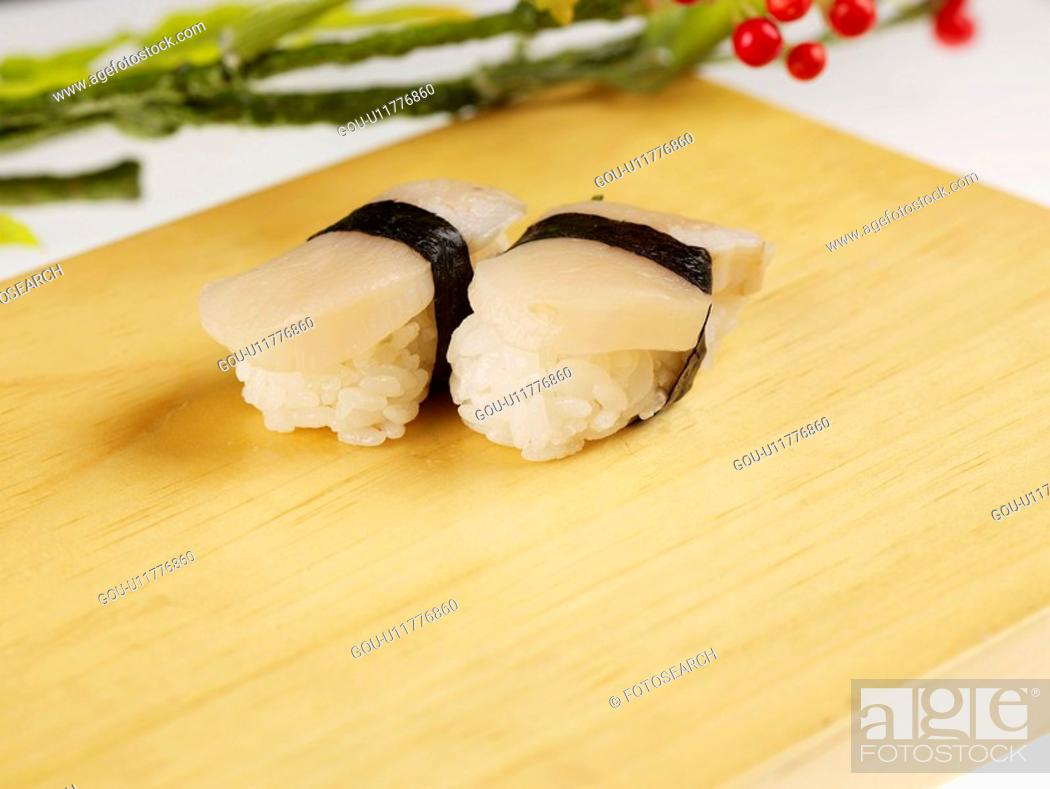 Stock Photo: cuisine, plate, food, decoration, food styling, japanese food, sushi plate.