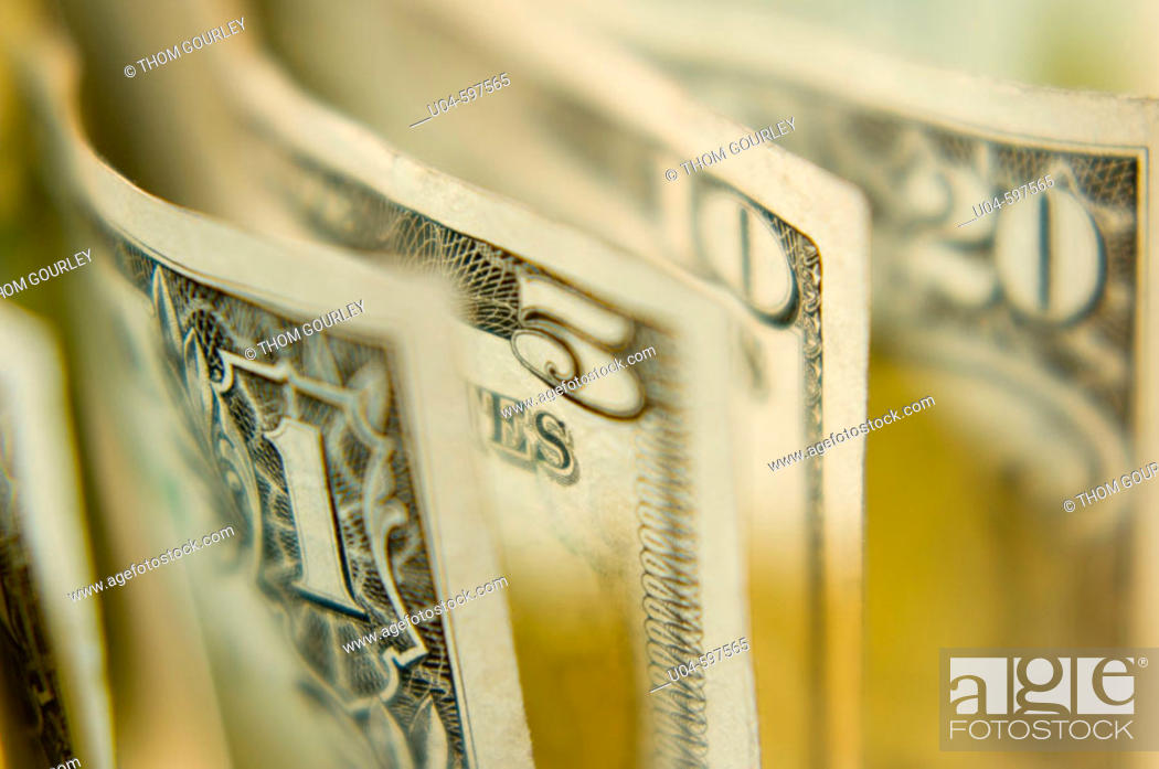 Stock Photo: US paper currency.