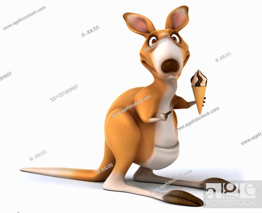Stock Photo: Fun kangaroo.