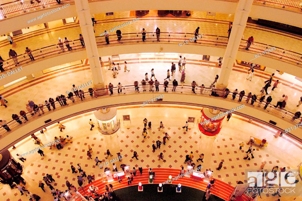 Stock Photo: Shopping mall, interior view of Petronas Twin Towers. Kuala Lumpur. Malaysia.