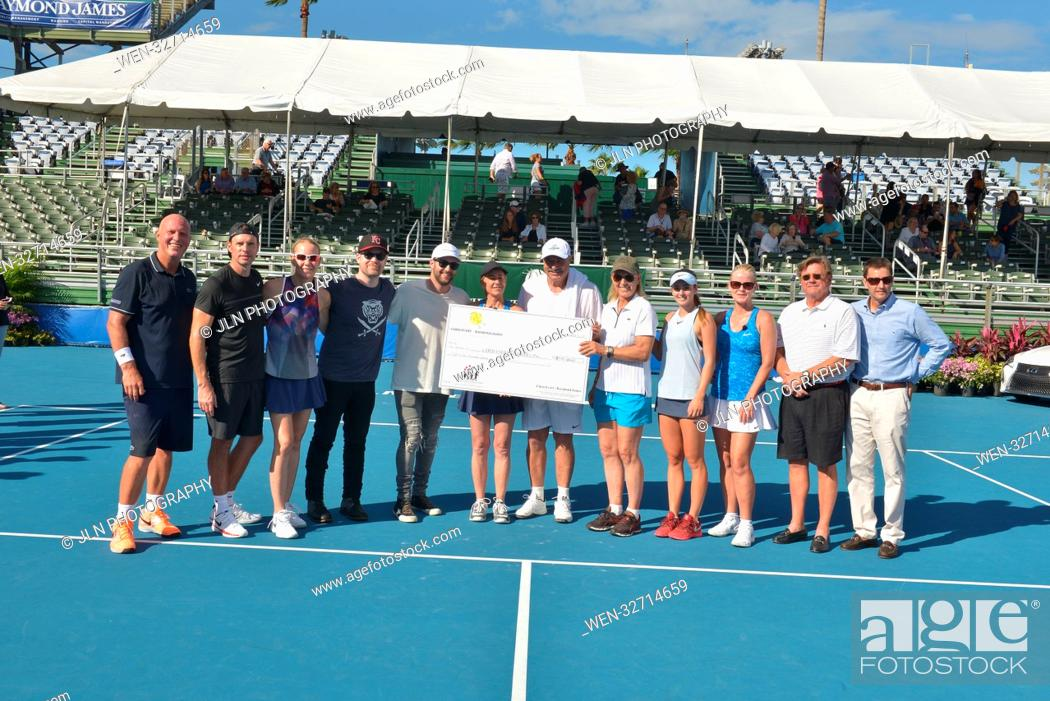 Stock Photo: Day 3 of the 28th Annual Chris Evert/Raymond James Pro-Celebrity Tennis Classic, at the Delray Beach Tennis Center in Delray Beach, Florida.