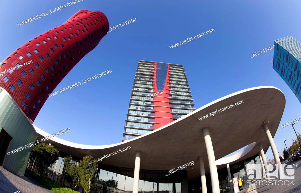 Stock Photo: Hotel Porta Fira in Fira Dos - Trade fair of Barcelona -, L'Hospitalet de Llobregat, Barcelona, Spain.
