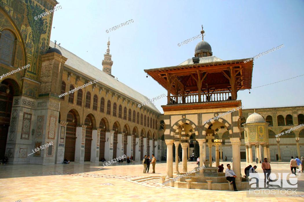 The Umayyad Mosque built 705-715 by caliph Al-Walid I