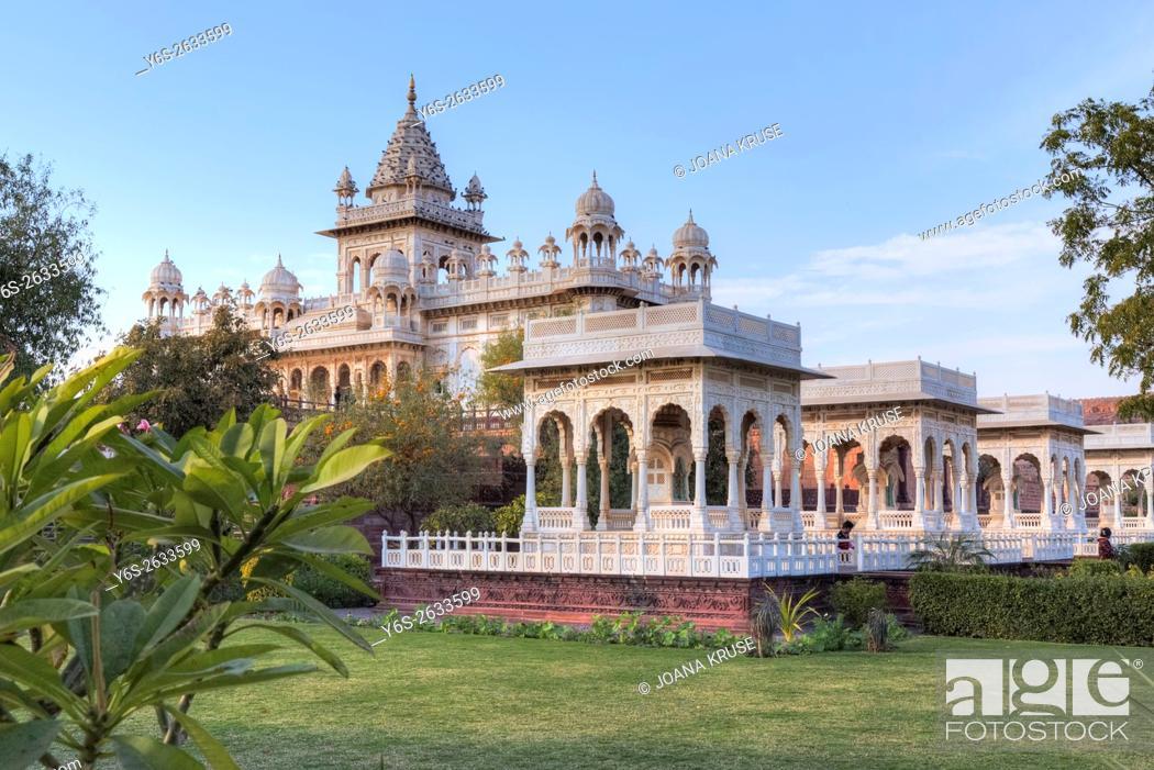 Stock Photo: Jaswant Thada, Jodhpur, Rajasthan, India, Asia.