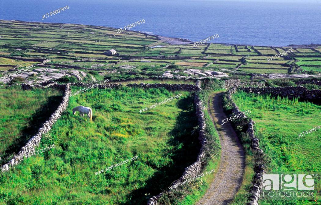 Stock Photo: Ireland, Aran Islands, Inishmore, landscape.