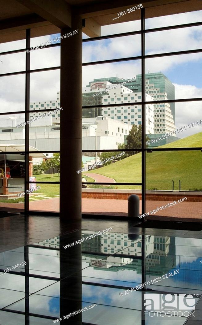Stock Photo: View of Modern Buildings from Miraflores Museum, Guatemala City.