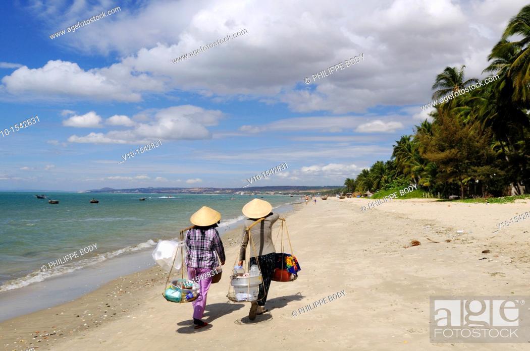 Stock Photo: Vietnam, Mui Ne, the beach.