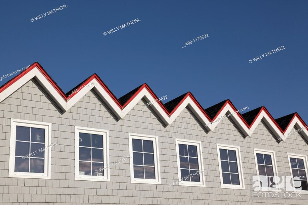 Stock Photo: Roof of the Sou'Wester Restaurant at the fishing port Peggys Cove, Nova Scotia, Canada, North America.