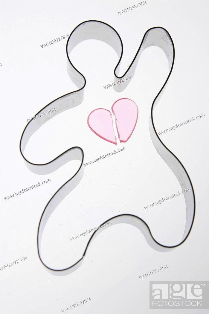 Stock Photo: Broken, Close-Up, Curve, Cut Out, Heart Shape.