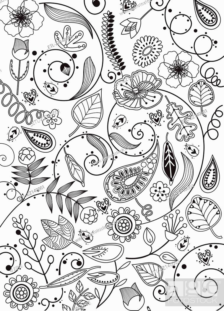 Stock Photo: various plants patterns.