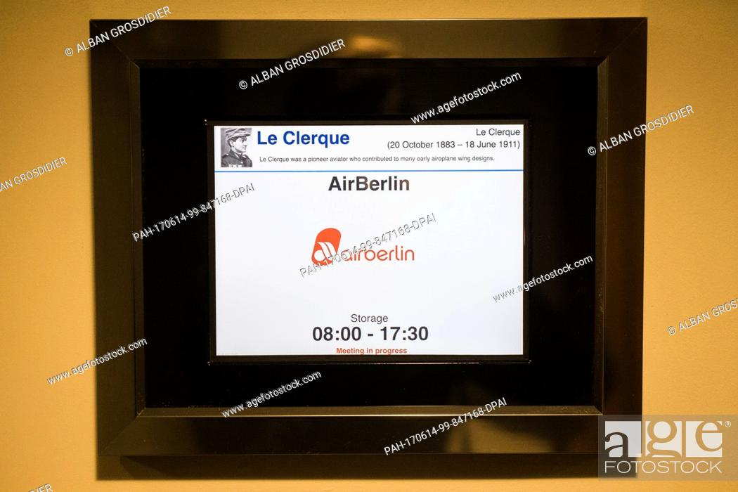The Letters Air Berlin A Can Be Seen On A Display Panel Outside A