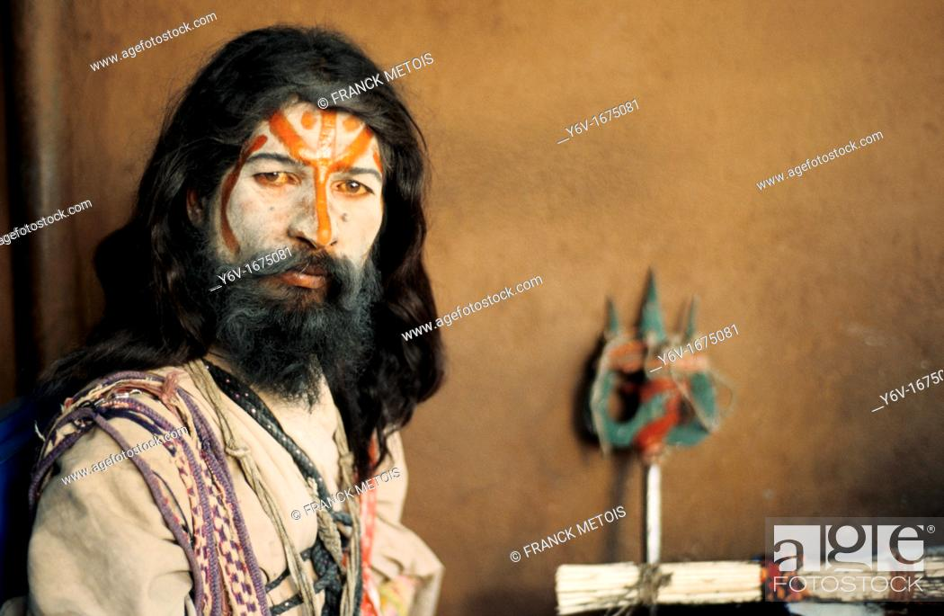 Stock Photo: Hindu ascetic, sadhu. From Rajasthan, India.