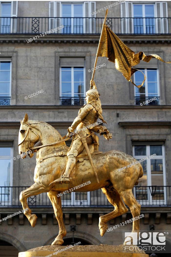 Stock Photo: Joan of Ark statue in Paris.