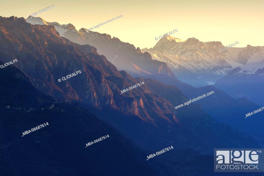 The Summit Delladamello Dawn The Adamello Is The Symbol Of