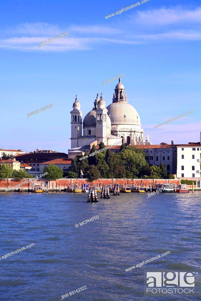Stock Photo: view on Santa Maria della Salute, Italy, Venice.