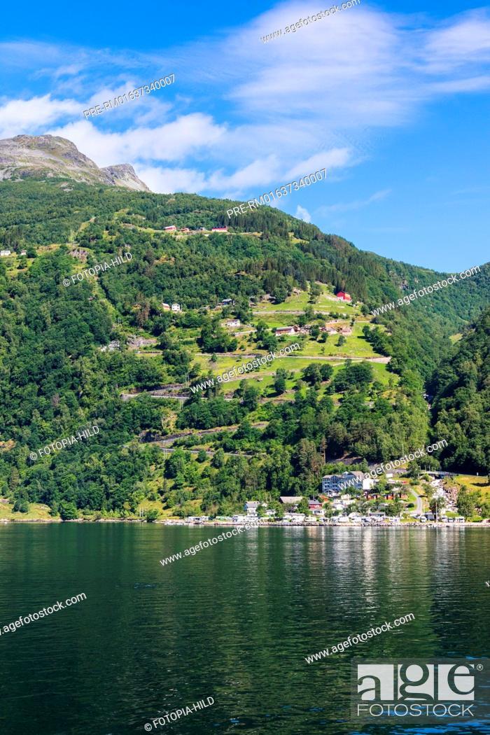 Look From Geirangerfjord To Geirangerfjorden Feriesenter