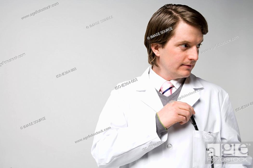 Stock Photo: Portrait of a scientist.