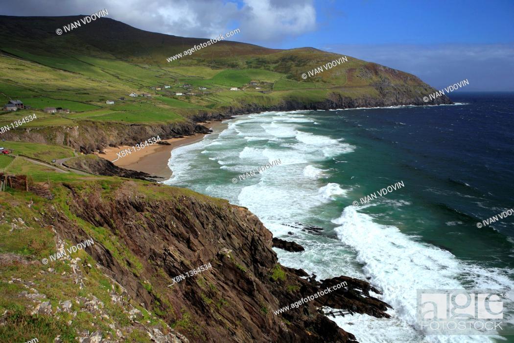 Stock Photo: Slea Head landscape, Dingle peninsula, Kerry county, Ireland.