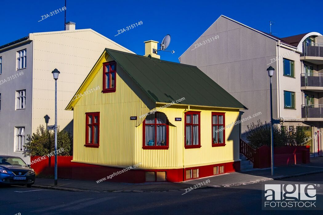 Stock Photo: Traditional house in Reykjavik, Iceland.