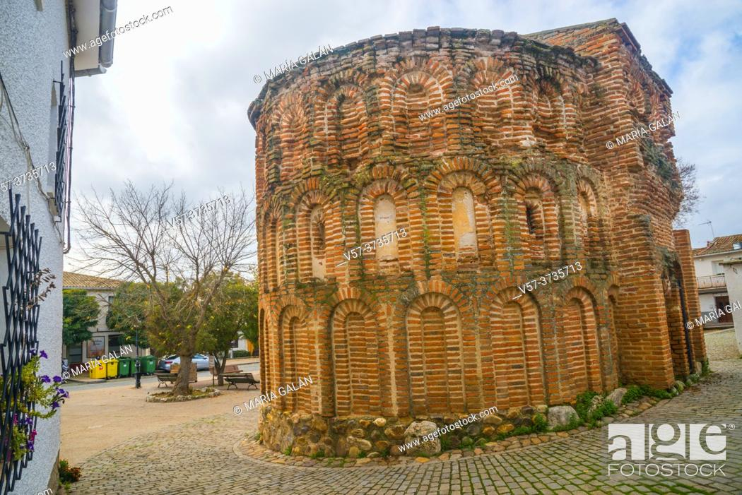 Stock Photo: Los Milagros apse. Talamanca del Jarama, Madrid province, Spain.