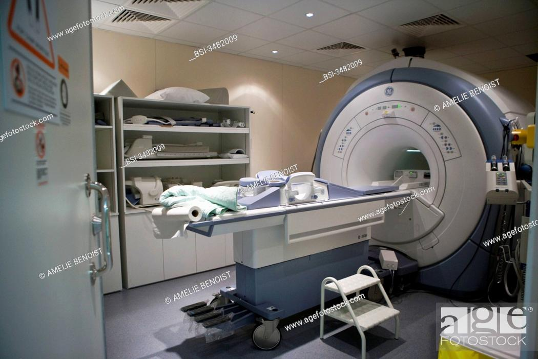 Stock Photo: Photo essay at the department of medical imagery of the Diaconesses hospital in Paris, France.