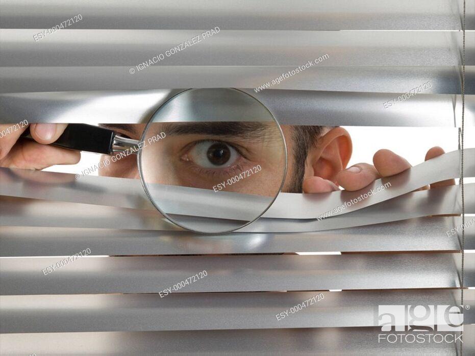 Stock Photo: Extreme peeping Tom.