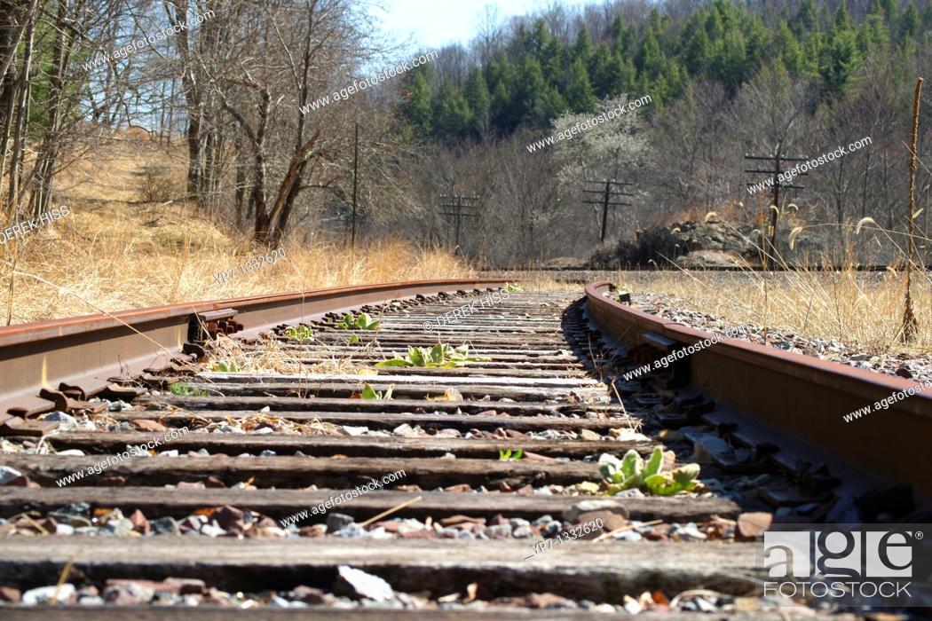 Stock Photo: Train Tracks, Pennsylvania.