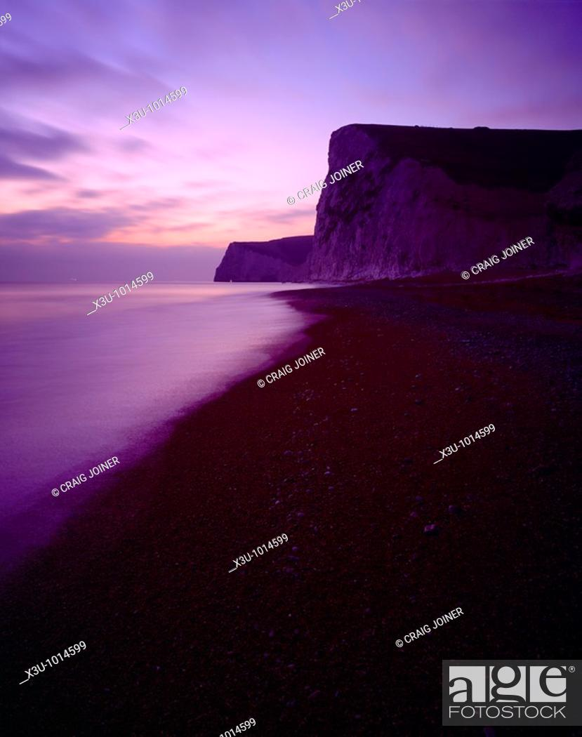 Stock Photo: The cliffs of Bats Head and Swyre Head by Durdle Door on the Dorset Jurassic Coast, West Lulworth, Dorset, England, United Kingdom.