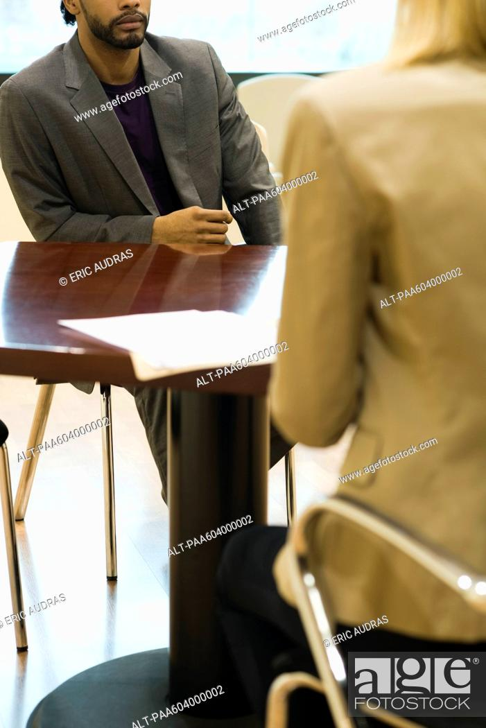 Stock Photo: Professional man in job interview.
